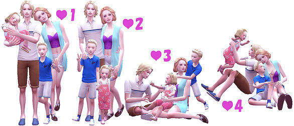 Family Pose 09 at A luckyday image 10413 Sims 4 Updates