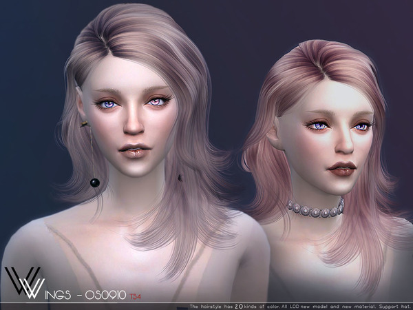 Sims 4 OS0910 hair by wingssims at TSR