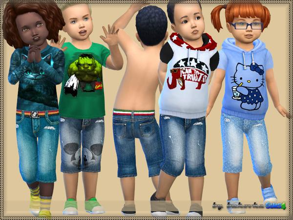 Sims 4 Short Denim by bukovka at TSR