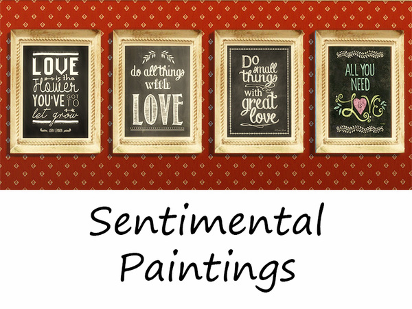 Sims 4 Sentimental Paintings by Rosannep at TSR