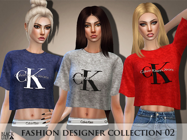 Sims 4 Fashion Designer Collection 02 by Black Lily at TSR