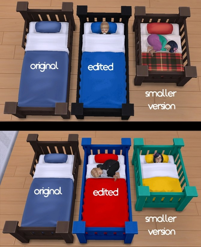 Toddler Bed Set at qvoix – escaping reality image 1094 670x823 Sims 4 Updates
