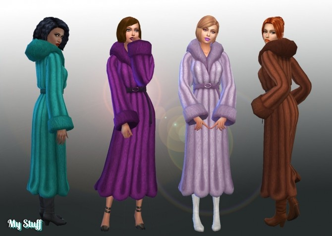 Sims 4 Coat Fur Trim Conversion at My Stuff