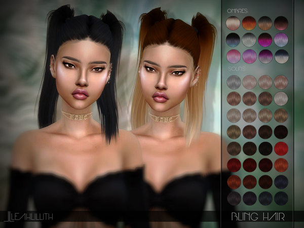 Sims 4 Bling Hair by Leah Lillith at TSR
