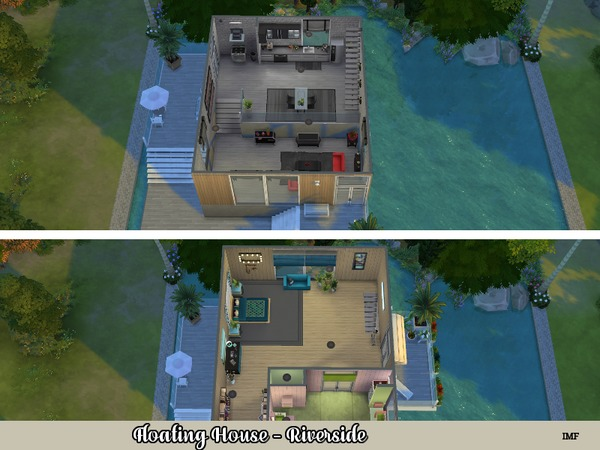 IMF Floating House Riverside by IzzieMcFire at TSR image 1112 Sims 4 Updates