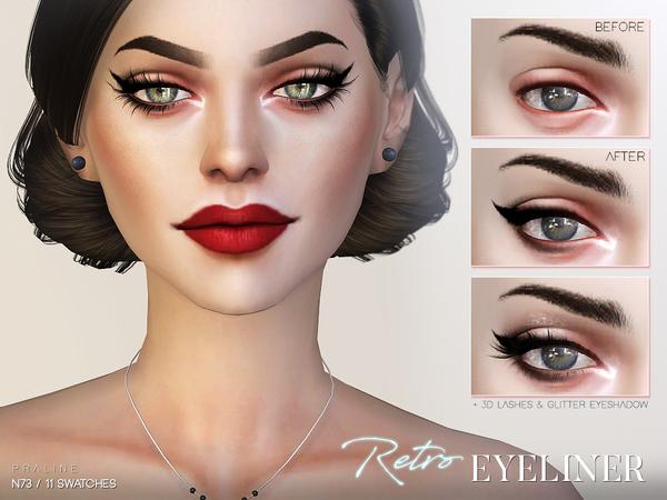 Retro Eyeliner N73 by Pralinesims at TSR image 1114 Sims 4 Updates