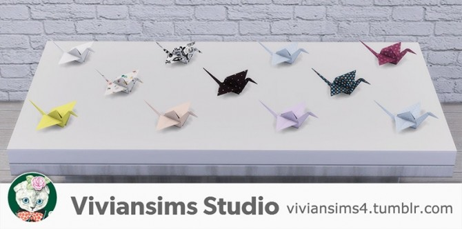 Sims 4 Paper birds at Viviansims Studio