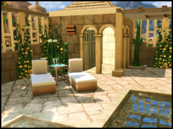 Sims 4 Oasis Springs Private Pool by Terramoon at TSR