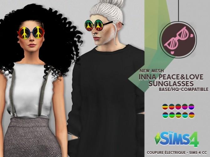 Sims 4 INNA PEACE&LOVE SUNGLASSES at REDHEADSIMS