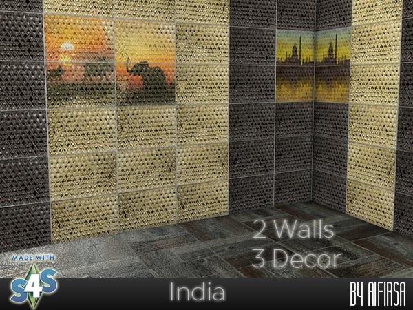 Sims 4 India walls at Aifirsa