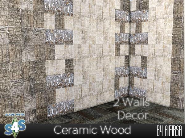 Sims 4 Ceramic Wood tiles at Aifirsa