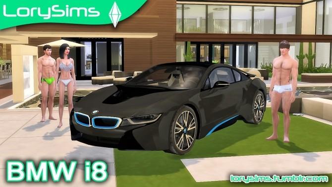 Sims 4 BMW i8 at LorySims