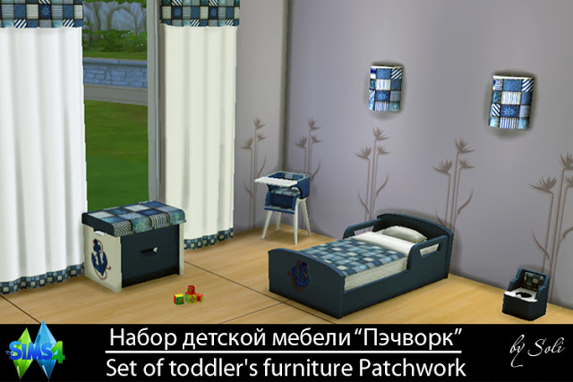 Sims 4 Patchwork set at Soli Sims 4
