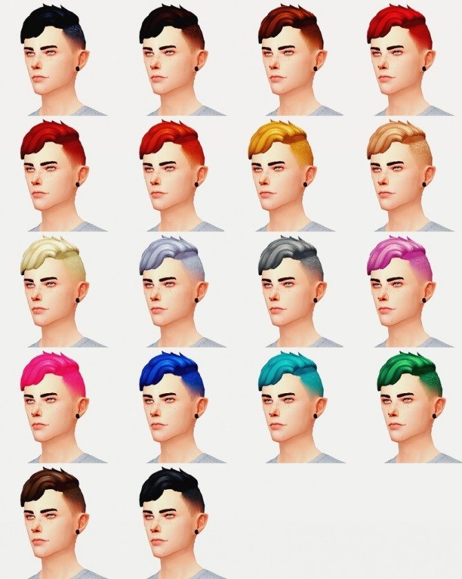 Sims 4 NOAH HAIR at Wyatts Sims