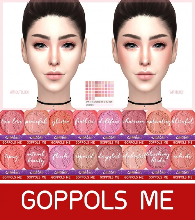 Sims 4 Amazonian clay 12 hour blush at GOPPOLS Me