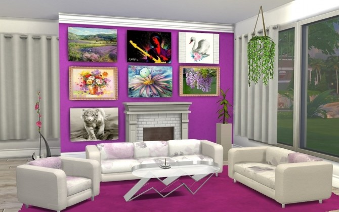 Livingroom recolors at Louisa Creations4Sims image 1241 670x419 Sims 4 Updates