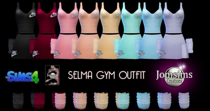 Sims 4 Selma gym outfit at Jomsims Creations