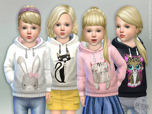 Hoodie for Toddler Girls P05 by lillka at TSR image 1263 Sims 4 Updates