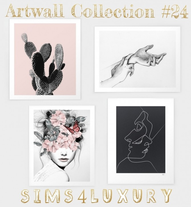 Artwall Collection #24 at Sims4 Luxury image 1264 670x726 Sims 4 Updates