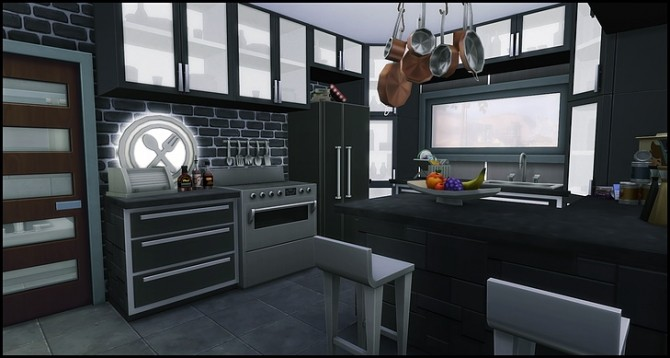 Sims 4 Solid Color Challenge Grey house at SkyFallSims Creation´s