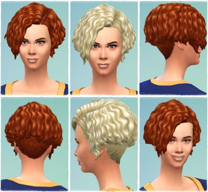 Sims 4 EarlyCurls female hair at Birksches Sims Blog