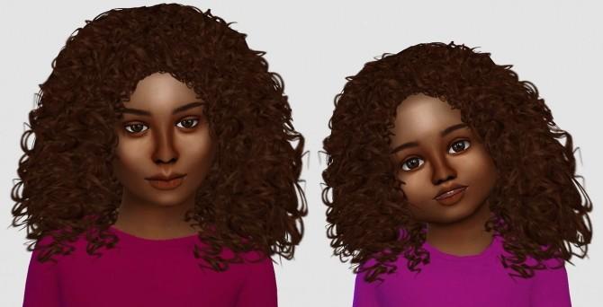 Sims 4 Alessia, Luna & Kai hair edits at Simiracle