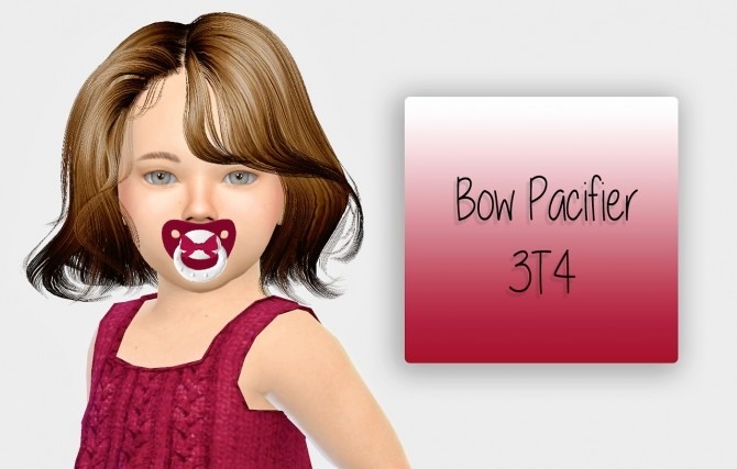 Sims 4 Bow Pacifier 3T4 at Simiracle