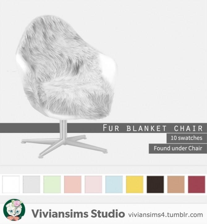 Fur Blanket Chair At Vivian Sims 187 Sims 4 Updates