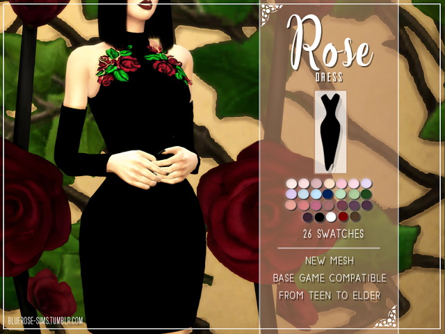 ROSE DRESS by Liseth Barquero at BlueRose Sims image 13011 Sims 4 Updates