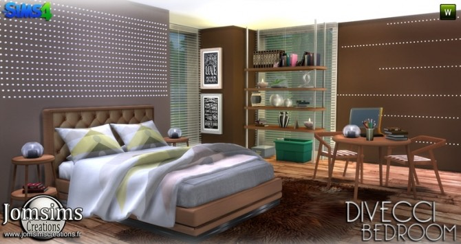 Divecci bedroom at Jomsims Creations image 13113 670x355 Sims 4 Updates