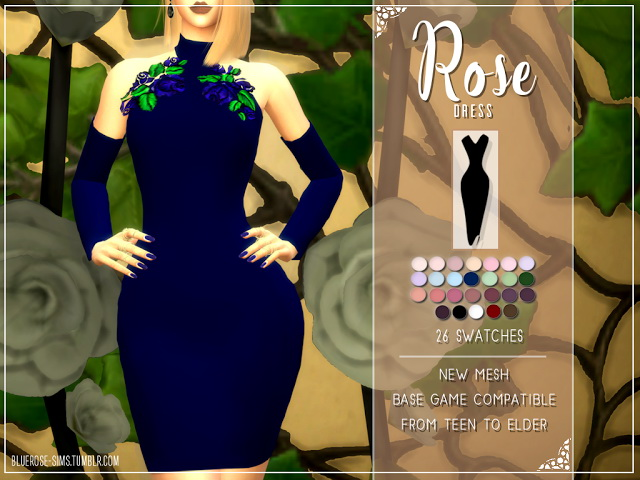 ROSE DRESS by Liseth Barquero at BlueRose Sims image 13116 Sims 4 Updates