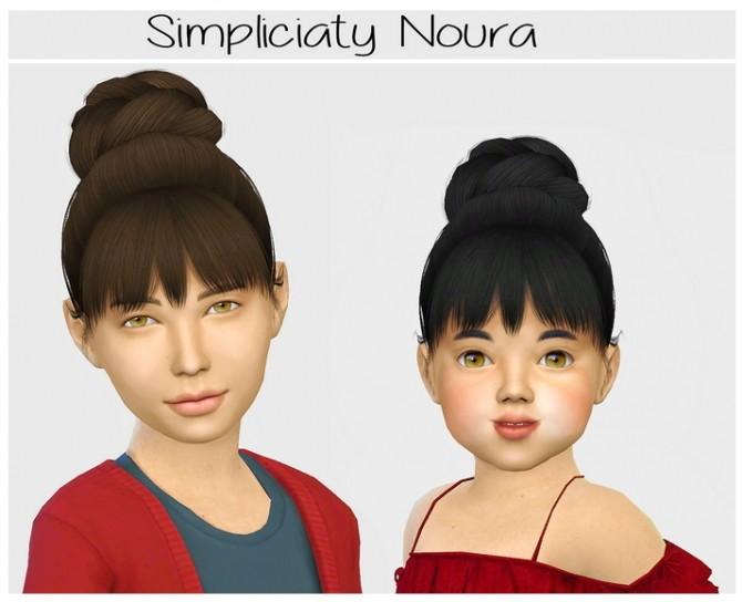 Sims 4 Simpliciaty cc Noura hair edit at Simiracle