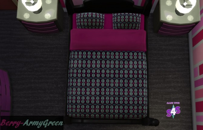 Sims 4 Killer Queen Double Bed by wendy35pearly at Mod The Sims