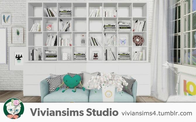 Nordic Style Bookshelf And Books At Viviansims Studio
