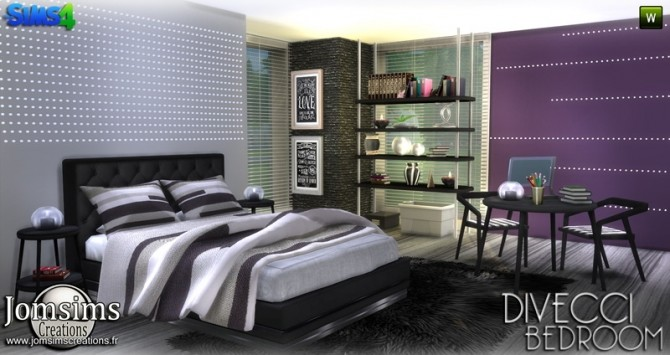 Divecci bedroom at Jomsims Creations image 1338 670x355 Sims 4 Updates