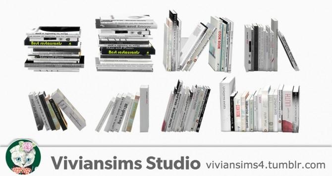 Nordic Style bookshelf and books at Viviansims Studio image 1344 670x355 Sims 4 Updates