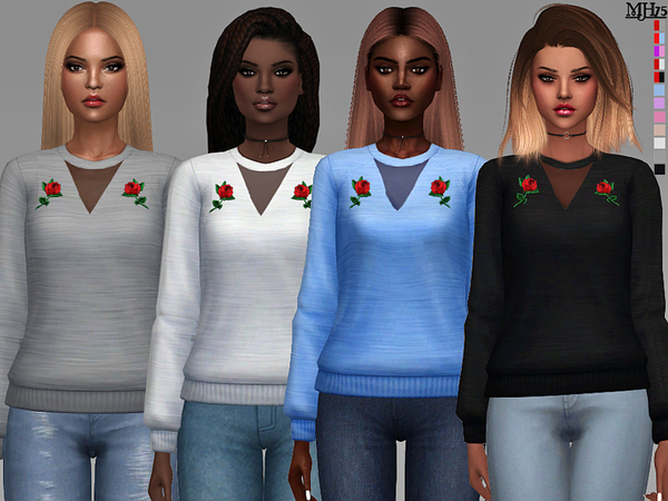 Sims 4 Primarks Rose Sweaters by Margeh 75 at TSR