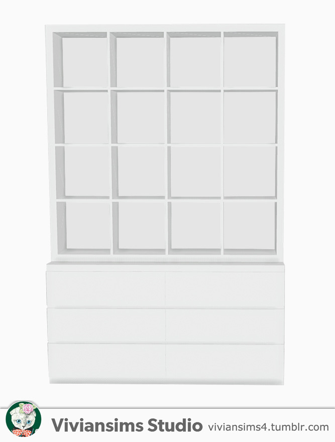 Nordic Style bookshelf and books at Viviansims Studio image 1354 Sims 4 Updates
