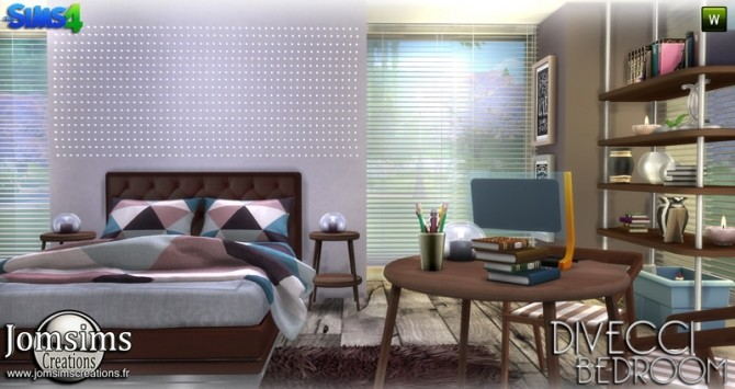 Divecci bedroom at Jomsims Creations image 1358 670x355 Sims 4 Updates