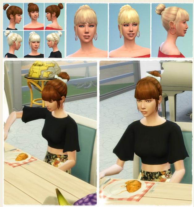 Sims 4 My Daughter's Bun & BowBun at My Stuff