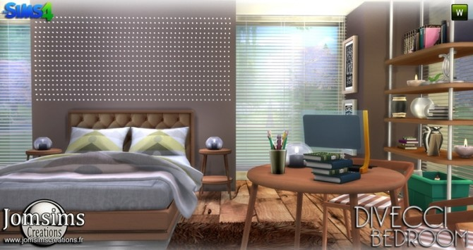 Divecci bedroom at Jomsims Creations image 1367 670x355 Sims 4 Updates