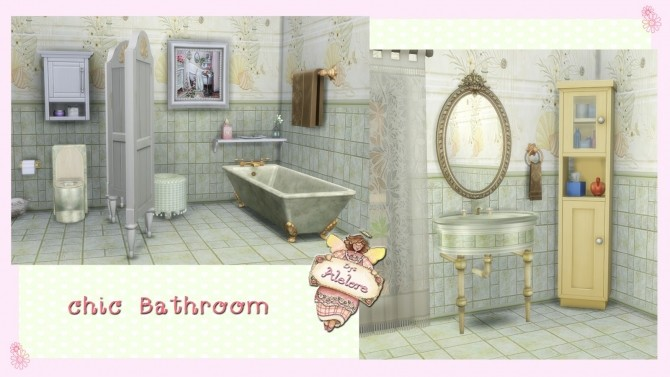 CHIC BATHROOM at Alelore Sims Blog image 137 670x377 Sims 4 Updates