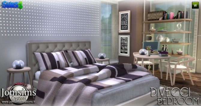 Divecci bedroom at Jomsims Creations image 1377 670x355 Sims 4 Updates