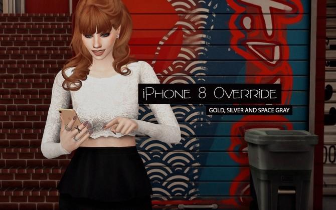 Sims 4 iPhone 8 Override at Dream Team Sims