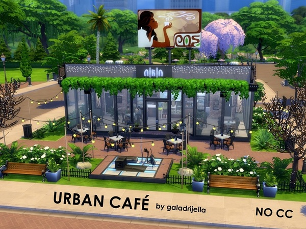 Urban Cafe by galadrijella at TSR image 14 Sims 4 Updates