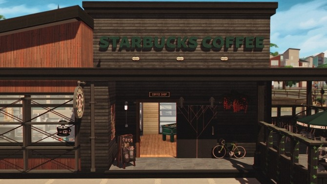 Starbucks Coffee Shop V2 Furnished at Dream Team Sims image 14116 670x377 Sims 4 Updates