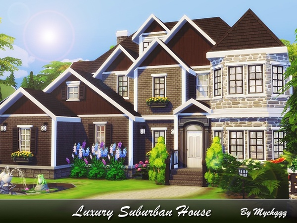 Luxury Suburban House by MychQQQ at TSR image 1417 Sims 4 Updates