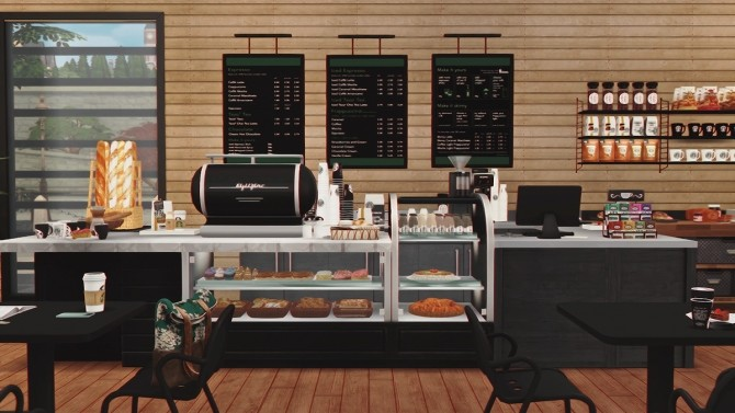 Starbucks Coffee Shop V2 Furnished At Dream Team Sims