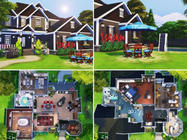 Luxury Suburban House by MychQQQ at TSR image 1423 Sims 4 Updates