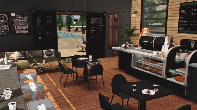 Starbucks Coffee Shop V2 Furnished at Dream Team Sims image 14311 670x377 Sims 4 Updates